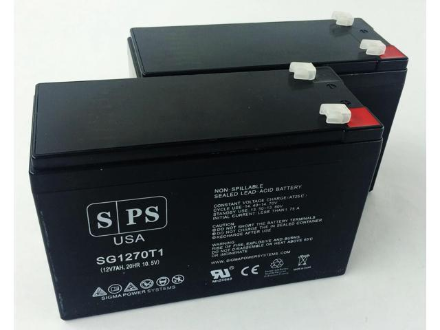 SPS BRAND 12v 7Ah Replacement Battery for UB1270 VERIZON FIOS SLA RECHARGEABLE (2 PACK)