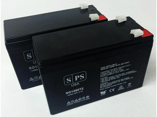 12v 9Ah Replacement Battery for UB1270 VERIZON FIOS SLA RECHARGEABLE (2 PACK) SPS BRAND