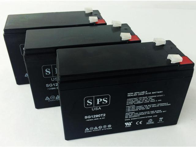 12v 9Ah Replacement Battery for UB1270 VERIZON FIOS SLA RECHARGEABLE (3 PACK) SPS BRAND