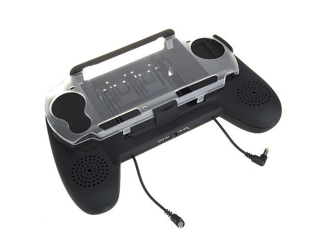 New 3 AAA Powered Battery Pack Hand Grip + Amplified Speakers for PSP 3000 - Best Market