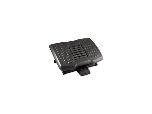 Premium Adjustable Footrest With Rollers, Plastic, 18w X 13d X 4h, Black By: Kantek