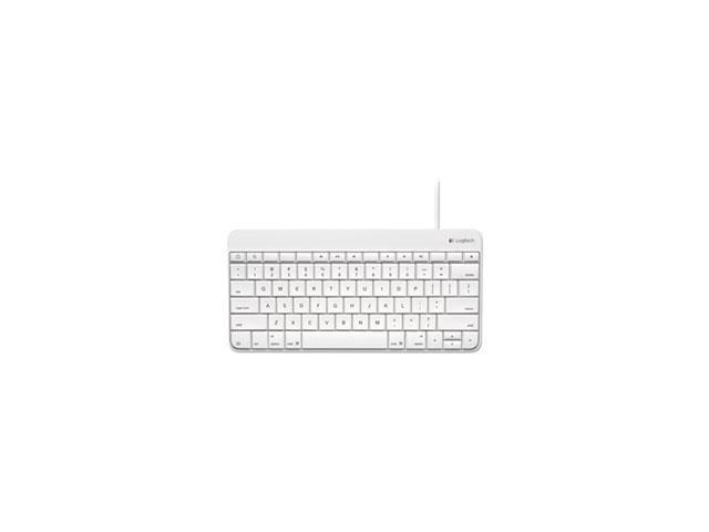 Wired Keyboard For Ipad, Apple Lightning Connector, Standard, White By: Logitech