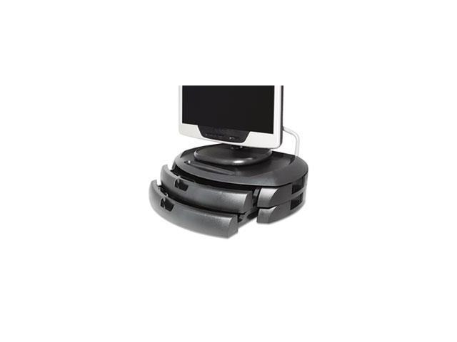 Lcd Monitor Stand With 2 Drawers, 18 X 12 1/2 X 5, Black By: Kantek