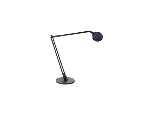 Concentrolite Halogen Desk Lamp, Tiered Shade, Weighted Base, 34