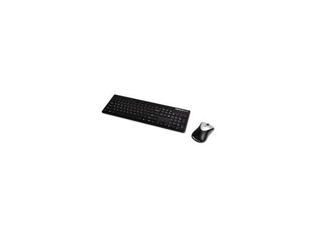 Slimline Wireless Antimicrobial Keyboard And Mouse, 15 Ft Range, Black By: Fellowes