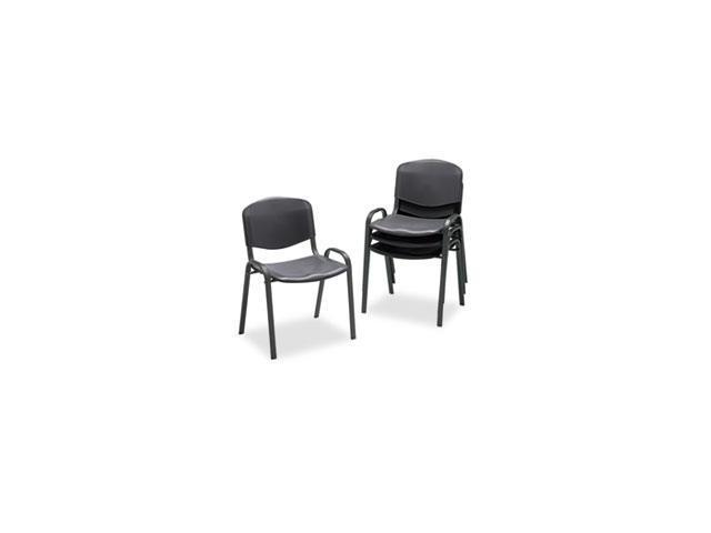 Stacking Chairs, Black W/black Frame, 4/carton By: Safco