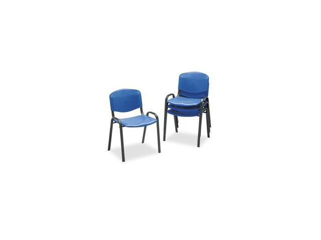 Contour Stacking Chairs, Blue W/black Frame, 4/carton By: Safco