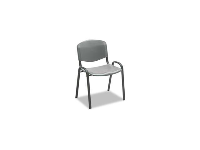 Stacking Chairs, Charcoal W/black Frame, 4/carton By: Safco