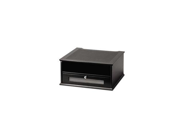Wood And Metal Desktop Monitor Stand, 13 X 13 X 6 1/2, Black By: Victor