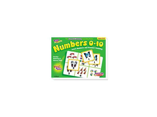 Numbers 0-10 Match Me Puzzle Game, Ages 3-6 By: TREND