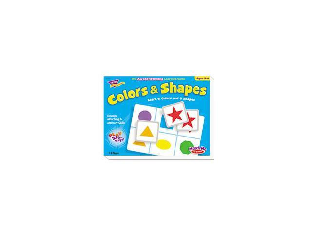 Colors And Shapes Match Me Puzzle Game, Ages 4-7 By: TREND