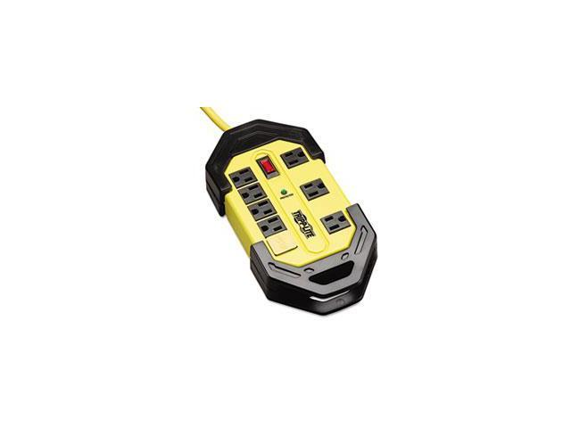 Safety Surge Suppressor, 8 Outlets, 12 Ft Cord, 1500 Joules, Yellow/black, Osha By: Tripp Lite