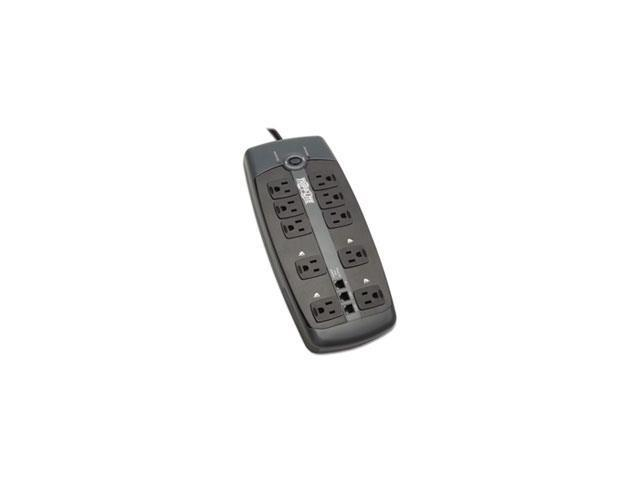 Tlp1008tel Surge Suppressor, 10 Outlets, 8 Ft Cord, 2395 Joules, Black By: Tripp Lite