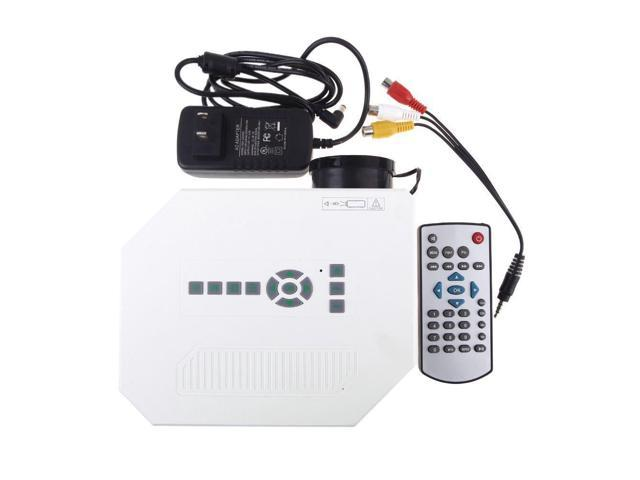 Mini Led Projector HDMI Home Theater Projector for Video Games Movie AV / VGA / USB / Micro SD / HDMI US Plug