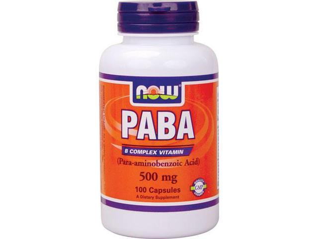 PABA 500 mg - 100 Capsules by NOW