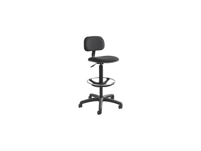 Safco Economy Extended-Height Chair, Black-BL