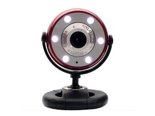 Quick 5.0 Mp Webcam Hd Red