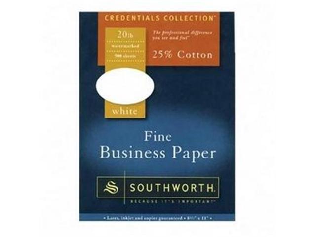 Southworth Company SOU403E Fine Business Paper- 20 lb.- 8-.50in.x14in.- White