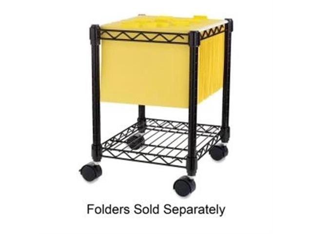 Lorell Compact Mobile Wire Filling Cart 4 Caster - 15.5