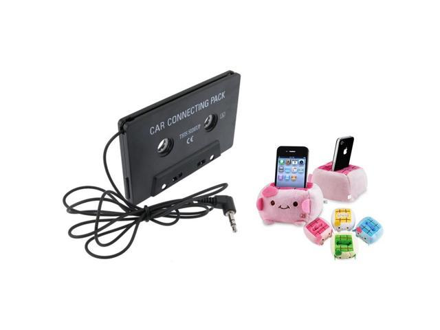 eForCity PDA Holder+Black Car Audio Cassette Adapter For iPhone 5/5S/5C 5th 4 4S 4GS 3GS