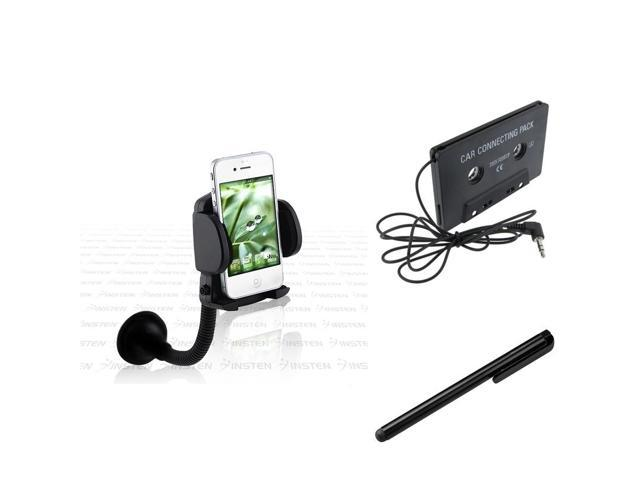 eForCity Mount + Tape Adapter + Black Stylus Compatible with Samsung© Galaxy S3 i9300 i9500 S4