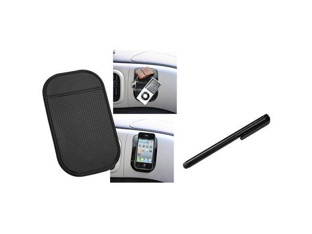 eForCity Black Sticky Mount Mat + Black Stylus Compatible with Samsung© Galaxy i9300 S4 i9500 i8190 N7100