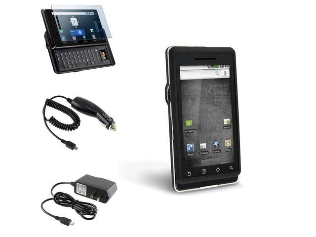 eForCity Hard Cover+LCD+Wall+Car Charger Compatible With Motorola Droid A855