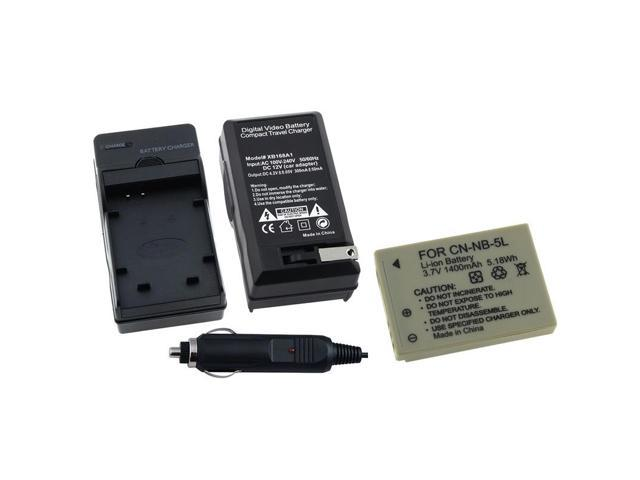 eForCity Battery+Charger Compatible With Canon Sd790 Sd800 Sd850 Sd870 Sd880