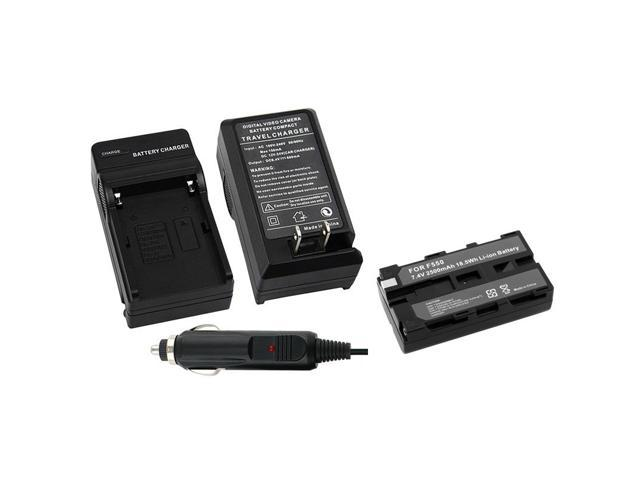 eForCity Battery+Charger Compatible With Sony NP-F570 NP-F730 NP-F750 NP-F550 NP-F330 F930 F950 F530