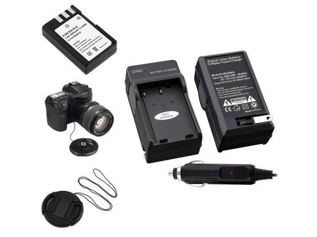 eForCity Battery+Charger En-El9 Compatible With Nikon D3000 D40X+Cap+Keeper
