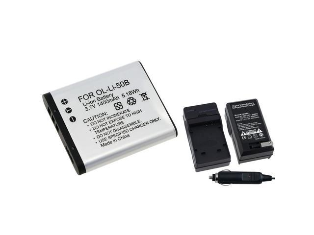 eForCity 2X Li-50B Battery+Charger Compatible With Olympus Stylus Tough 8010