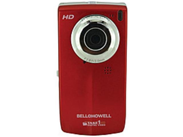 Bell and Howell Take1 HD T100HD-R 5.0 Megapixel Digital Video Camcorder - 4x Digital Zoom - 1.8-inch LCD Display - Red