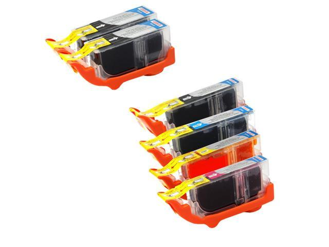 6 Canon Pixma MG5220 Ink Cartridges Combo Pack (compatible)