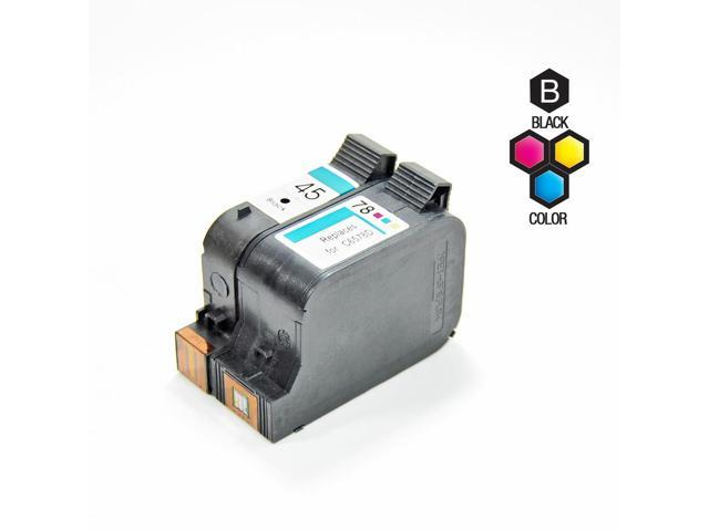 Compatible Hewlett Packard (HP) 51645A (HP 45) and C6578D (HP 78) Set of 2 Ink Cartridges