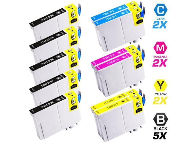 Replacement Epson T124 Set of 11 Ink Cartridges: 5 Black (T1241) & 2 Cyan (T1242), 2 Magenta (T1243), 2 Yellow (T1244)