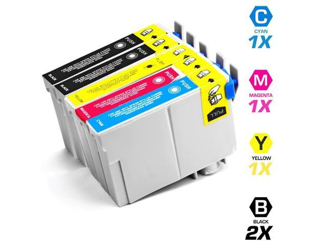 Remanufactured Replacement for Epson T068 5-Set Ink Cartridges: 2 Black & 1 each of Cyan / Magenta / Yellow