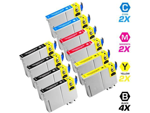 Remanufactured Replacement for Epson T068 10-Set Ink Cartridges: 4 Black & 2 each of Cyan / Magenta / Yellow