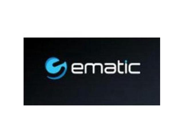 EMATIC DE101B Lightweight Headphones Black