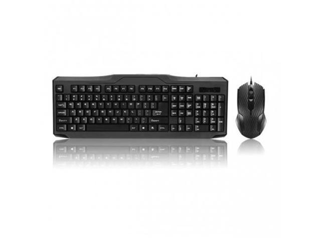 IMICRO KB-RP5159 iMicro KB-RP5159 Modern Series USB Wired English Keyboard and Mouse Combo (Black)