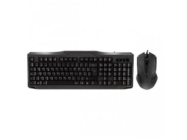 IMICRO KB-IM5159S iMicro KB-IM5159S Modern Series USB Wired Spanish Keyboard and Mouse Combo (Black)