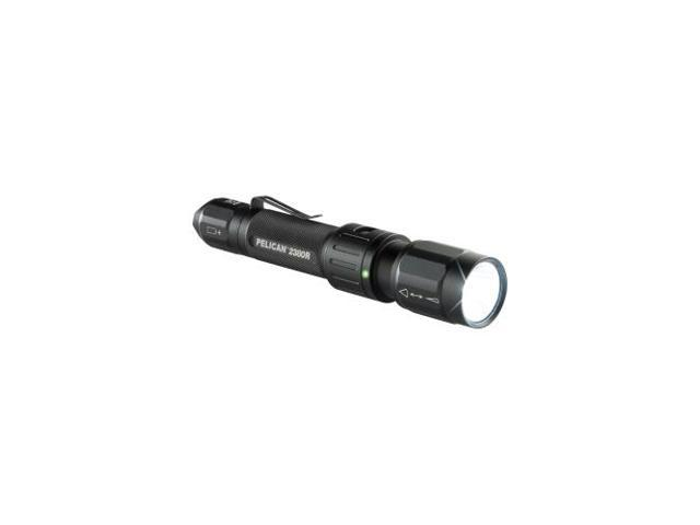PELICAN 2380R ProGear 2380R Rechargeable LED Flashlight - CR123A - Anodized AluminumBody, PolycarbonateLens - Black