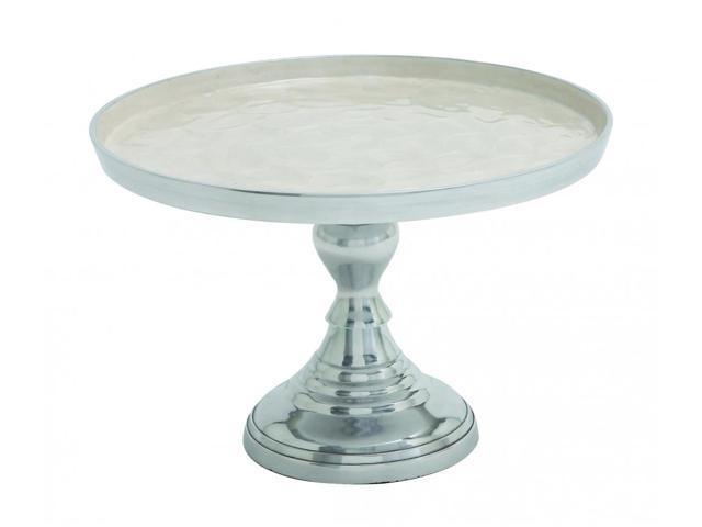 BENZARA 22034 Modern Aluminum Small Size Cupcake Stand in Silver Finish