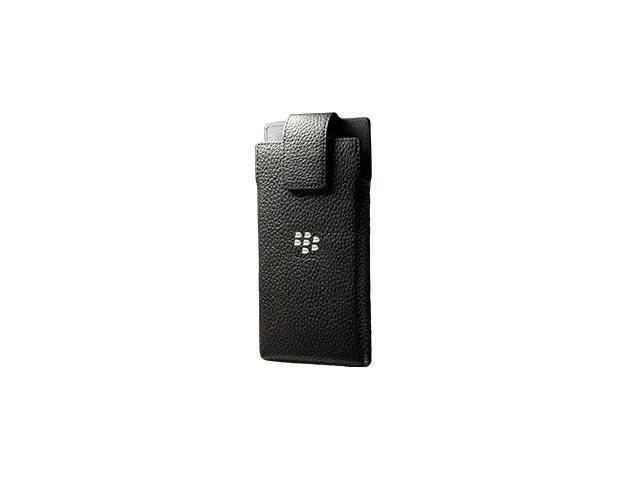 BlackBerry OEM Leap Leather Swivel Holster Black