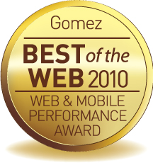 Gomez Best of Web 2010 Gold