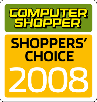 Computer Shopper Shoppers' Choice 2008